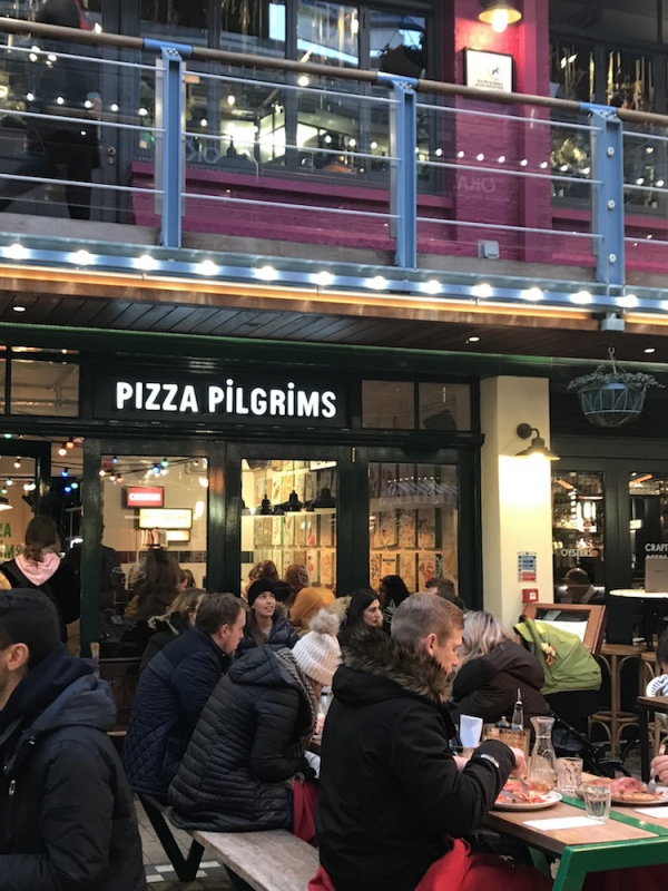 Pizza Pilgrims is a small but cosy restaurant that sells authentic pizzas for cheap prices. (Photo by Selma Hansen)